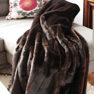Pottery Barn Faux Fur Throw Blanket